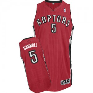Maillot Adidas Rouge Road Authentic Toronto Raptors - DeMarre Carroll #5 - Homme