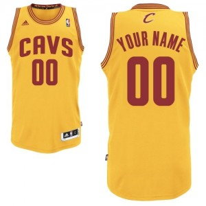 Maillot NBA Cleveland Cavaliers Personnalisé Swingman Or Adidas Alternate - Homme