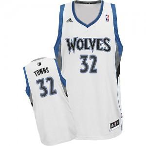 Maillot NBA Swingman Karl-Anthony Towns #32 Minnesota Timberwolves Home Blanc - Homme