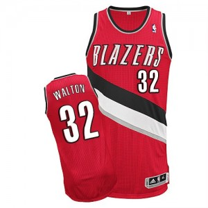 Maillot Authentic Portland Trail Blazers NBA Alternate Rouge - #32 Bill Walton - Homme