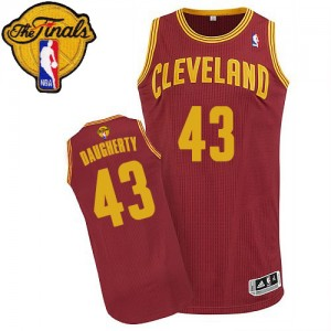 Cleveland Cavaliers #43 Adidas Road 2015 The Finals Patch Vin Rouge Authentic Maillot d'équipe de NBA pas cher en ligne - Brad Daugherty pour Homme