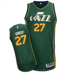 Maillot NBA Utah Jazz #27 Rudy Gobert Vert Adidas Authentic Alternate - Homme