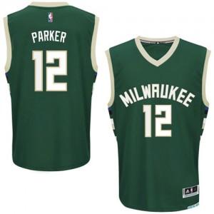 Maillot NBA Authentic Jabari Parker #12 Milwaukee Bucks Road Vert - Homme