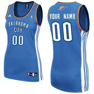 Maillot NBA Swingman Personnalisé Oklahoma City Thunder Road Bleu royal - Femme