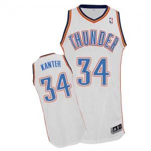 Oklahoma City Thunder Enes Kanter #34 Home Authentic Maillot d'équipe de NBA - Blanc pour Homme