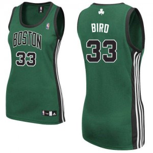 Maillot NBA Vert (No. noir) Larry Bird #33 Boston Celtics Alternate Authentic Femme Adidas