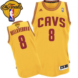 Maillot NBA Authentic Matthew Dellavedova #8 Cleveland Cavaliers Alternate 2015 The Finals Patch Or - Homme