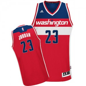 Maillot Adidas Rouge Road Swingman Washington Wizards - Michael Jordan #23 - Homme