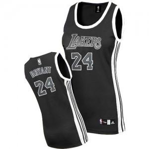 Maillot NBA Noir Blanc Kobe Bryant #24 Los Angeles Lakers Authentic Femme Adidas