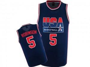 Maillot NBA Bleu marin David Robinson #5 Team USA 2012 Olympic Retro Authentic Homme Nike