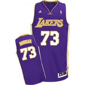 Maillot NBA Los Angeles Lakers #73 Dennis Rodman Violet Adidas Swingman Road - Homme