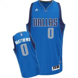 Dallas Mavericks Wesley Matthews #0 Road Swingman Maillot d'équipe de NBA - Bleu royal pour Enfants