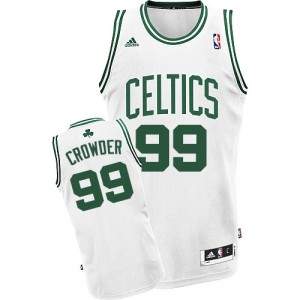 Maillot NBA Swingman Jae Crowder #99 Boston Celtics Home Blanc - Homme