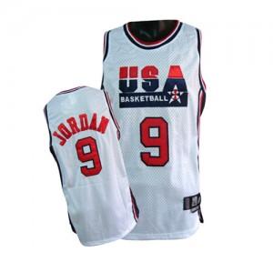 Team USA #9 Nike Summer Olympics Blanc Swingman Maillot d'équipe de NBA Vente pas cher - Michael Jordan pour Homme
