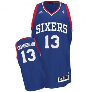 Maillot NBA Swingman Wilt Chamberlain #13 Philadelphia 76ers Alternate Bleu royal - Homme