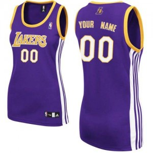 Maillot Los Angeles Lakers NBA Road Violet - Personnalisé Authentic - Femme