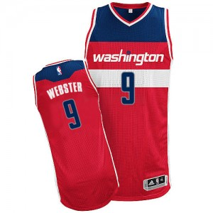 Maillot Authentic Washington Wizards NBA Road Rouge - #9 Martell Webster - Homme