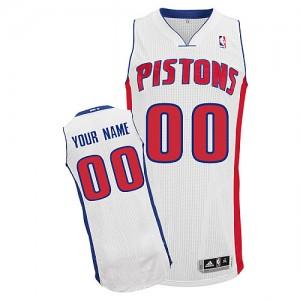Maillot NBA Blanc Authentic Personnalisé Detroit Pistons Home Homme Adidas