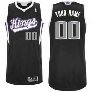 Maillot NBA Noir Authentic Personnalisé Sacramento Kings Alternate Enfants Adidas