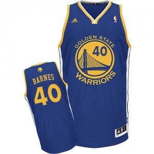 Maillot NBA Golden State Warriors #40 Harrison Barnes Bleu royal Adidas Swingman Road - Homme