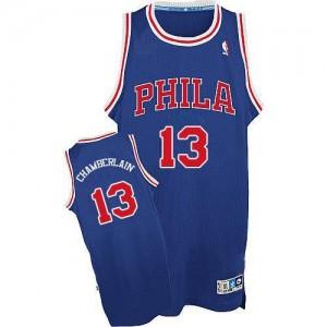 Maillot NBA Swingman Wilt Chamberlain #13 Philadelphia 76ers Throwback Bleu / Rouge - Homme