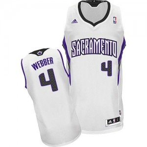 Maillot NBA Swingman Chris Webber #4 Sacramento Kings Home Blanc - Homme