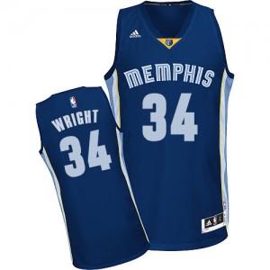 Maillot Adidas Bleu marin Road Swingman Memphis Grizzlies - Brandan Wright #34 - Homme
