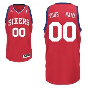 Maillot NBA Philadelphia 76ers Personnalisé Swingman Rouge Adidas Road - Enfants