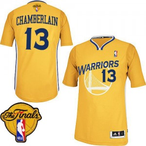 Golden State Warriors #13 Adidas Alternate 2015 The Finals Patch Or Authentic Maillot d'équipe de NBA pas cher en ligne - Wilt Chamberlain pour Homme