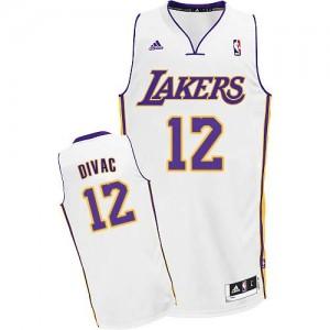 Maillot Adidas Blanc Alternate Swingman Los Angeles Lakers - Vlade Divac #12 - Homme