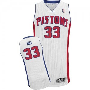 Detroit Pistons #33 Adidas Home Blanc Authentic Maillot d'équipe de NBA à vendre - Grant Hill pour Homme