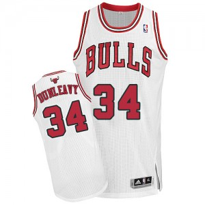 Maillot NBA Blanc Mike Dunleavy #34 Chicago Bulls Home Authentic Homme Adidas