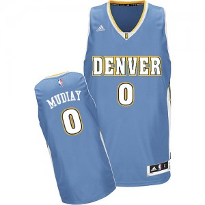Maillot NBA Swingman Emmanuel Mudiay #0 Denver Nuggets Road Bleu clair - Homme
