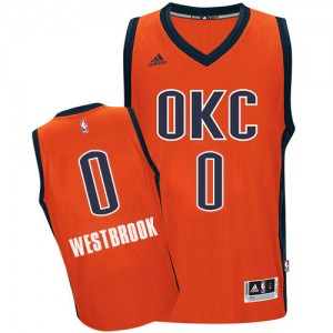 Maillot Swingman Oklahoma City Thunder NBA climacool Orange - #0 Russell Westbrook - Homme