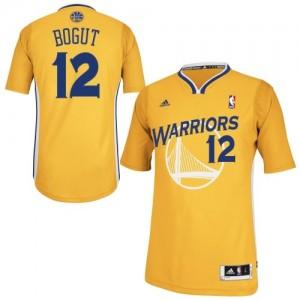 Maillot Adidas Or Alternate Swingman Golden State Warriors - Andrew Bogut #12 - Homme