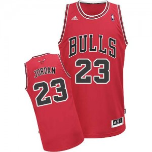 Maillot NBA Rouge Michael Jordan #23 Chicago Bulls Road Swingman Enfants Adidas