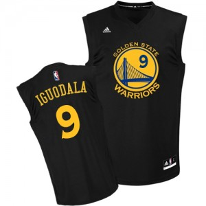 Golden State Warriors #9 Adidas Fashion Noir Authentic Maillot d'équipe de NBA magasin d'usine - Andre Iguodala pour Homme