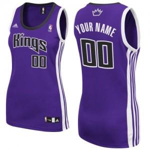 Maillot NBA Violet Swingman Personnalisé Sacramento Kings Road Femme Adidas