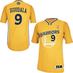 Maillot Authentic Golden State Warriors NBA Alternate Or - #9 Andre Iguodala - Homme