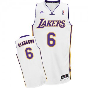 Maillot Swingman Los Angeles Lakers NBA Alternate Blanc - #6 Jordan Clarkson - Homme