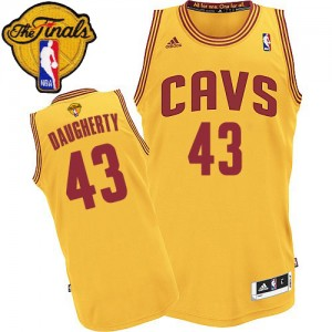 Cleveland Cavaliers #43 Adidas Alternate 2015 The Finals Patch Or Swingman Maillot d'équipe de NBA Discount - Brad Daugherty pour Homme