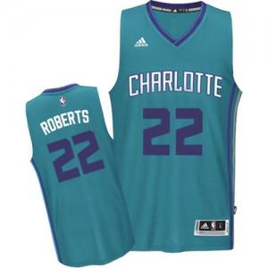 Maillot Adidas Bleu clair Road Swingman Charlotte Hornets - Brian Roberts #22 - Homme