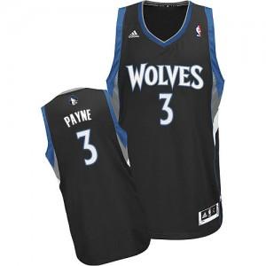 Minnesota Timberwolves #3 Adidas Alternate Noir Swingman Maillot d'équipe de NBA Soldes discount - Adreian Payne pour Homme