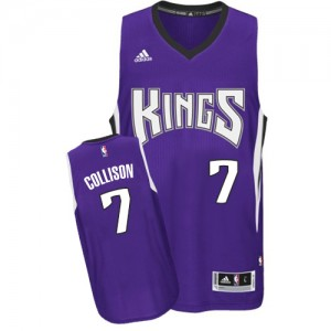 Maillot NBA Swingman Darren Collison #7 Sacramento Kings Road Violet - Homme