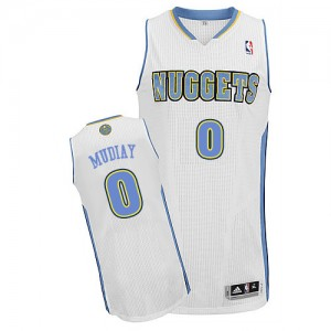 Maillot NBA Authentic Emmanuel Mudiay #0 Denver Nuggets Home Blanc - Homme