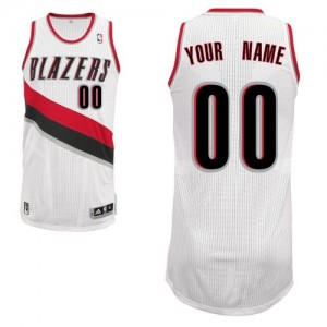 Maillot NBA Portland Trail Blazers Personnalisé Authentic Blanc Adidas Home - Homme