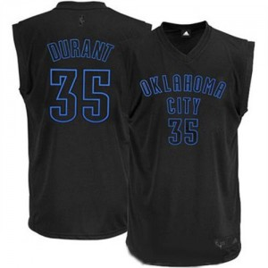 Maillot NBA Authentic Kevin Durant #35 Oklahoma City Thunder Noir - Homme