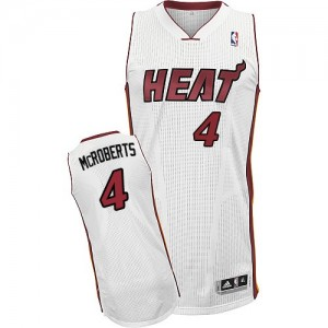 Maillot Authentic Miami Heat NBA Home Blanc - #4 Josh McRoberts - Homme