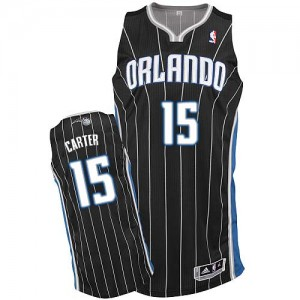 Orlando Magic Vince Carter #15 Alternate Authentic Maillot d'équipe de NBA - Noir pour Homme