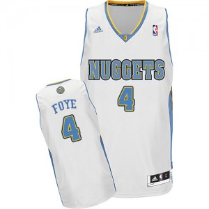 Maillot NBA Denver Nuggets #4 Randy Foye Blanc Adidas Swingman Home - Homme